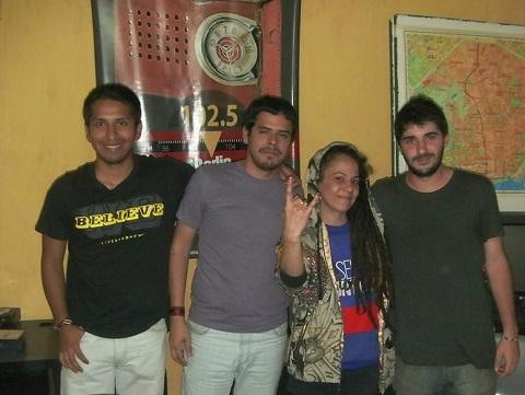 Miss Bolivia en FM La Colectiva