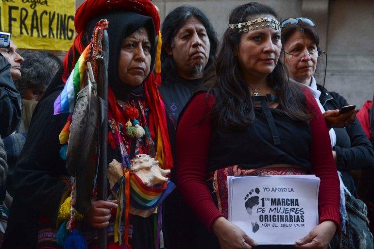 Primera Marcha de Mujeres Originarias por el Buen Vivir que se realizará el 21 de abril. Foto: Agustina López Oribe