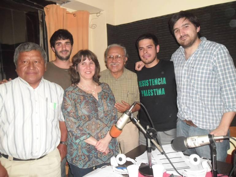 Nilo Cayuqueo, Asunción Ontiveros Yunquila y Diana Lenton en nuestro programa de radio.