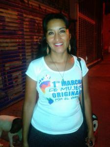Moira Millan, coordinadora de la 1er Marcha de Mujeres Originarias